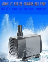 ATMAN AT 106S/107S mute submersible pump for fish tank Amphibious with fountian assembly Output adjustable Fresh water seawater