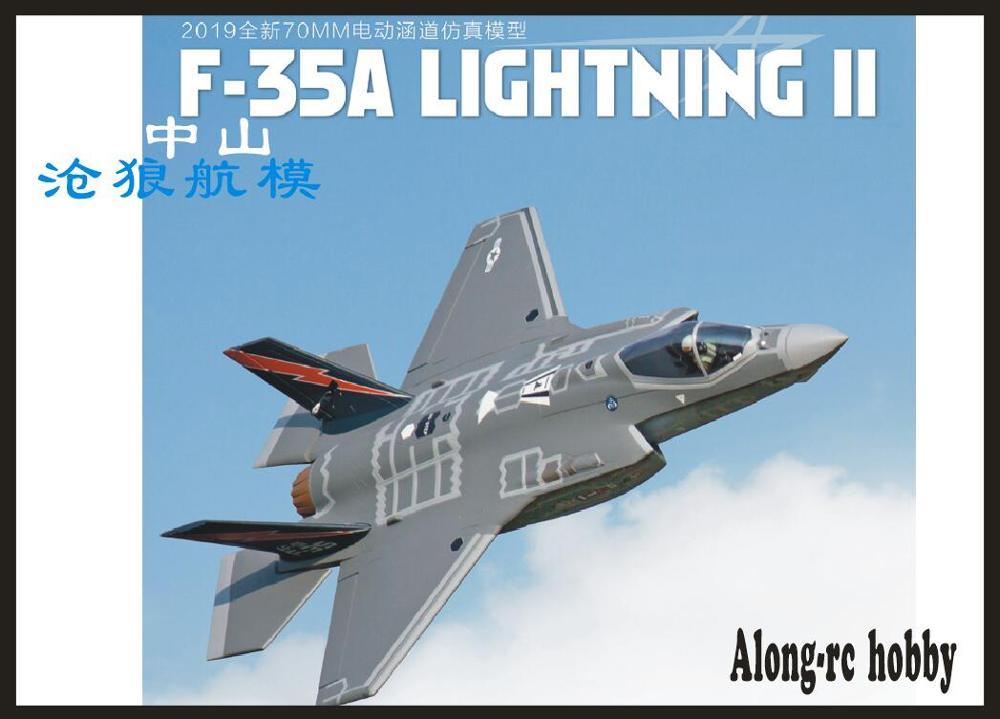 Freewing nuevo epo F 35A 70mm EDF JET PLANE control remoto modelo KIT F 35 F35 avión retráctil RC modelo HOBBY-in Aviones RC from Juguetes y pasatiempos    1
