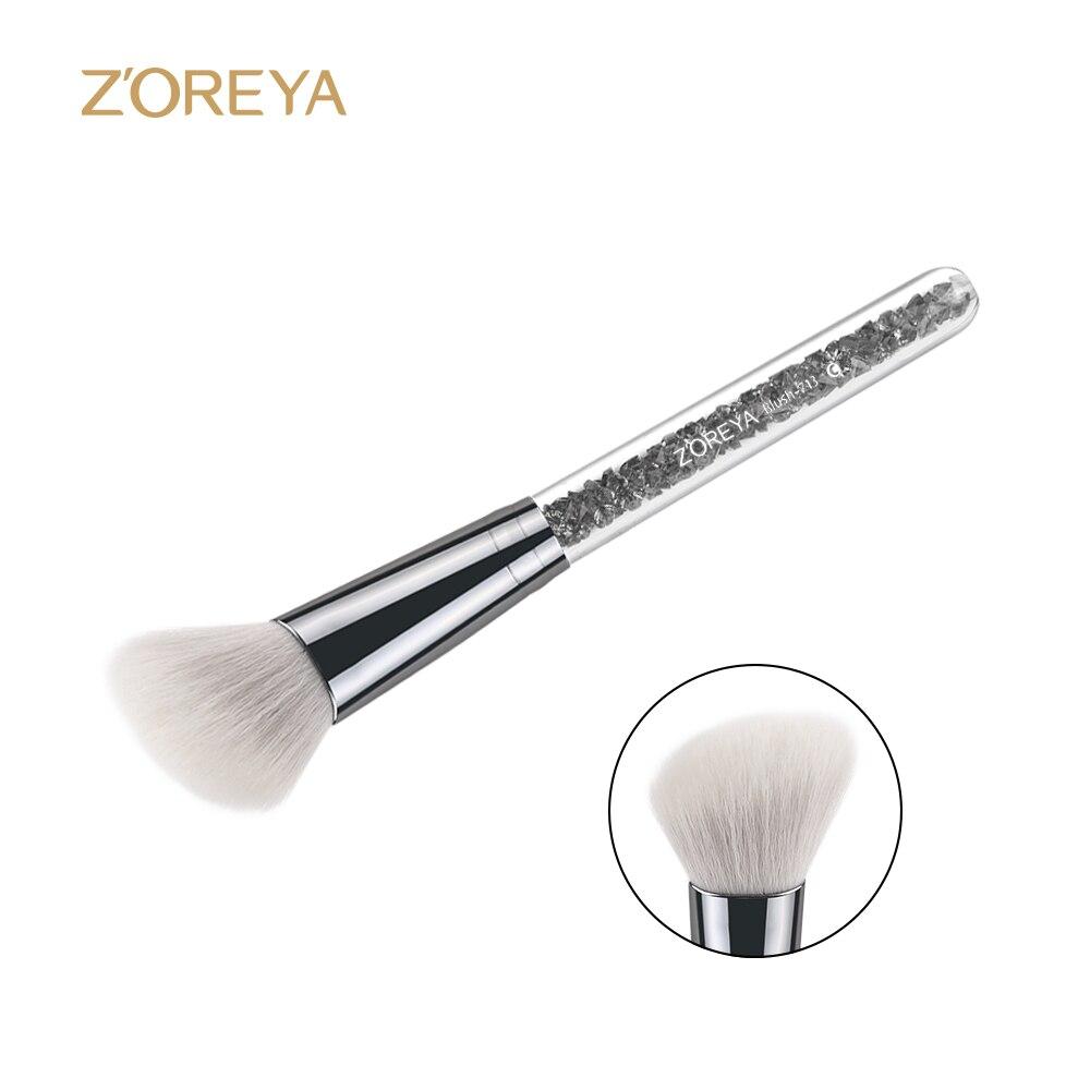 Zoreya marca obliquel estilo blush maquillaje cepillo cosméticos maquillaje cepi