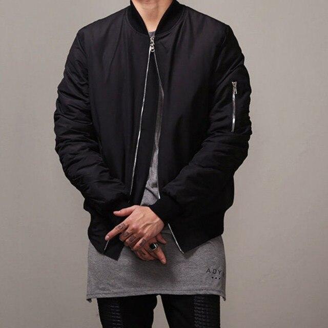Bomberjack zwart man denim jacket fashion militaire ma1 for Bomberjack heren
