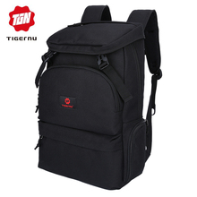 Tigernu fashion men preppy style backpack for youth flap pocket large capacity daily bag business 15 6inch laptop backpack cheap Backpacks Oxford NONE Unisex Solid Softback zipper Polyester 20-35 Litre Air Cushion Belt T-B3210 Soft Handle Computer Interlayer