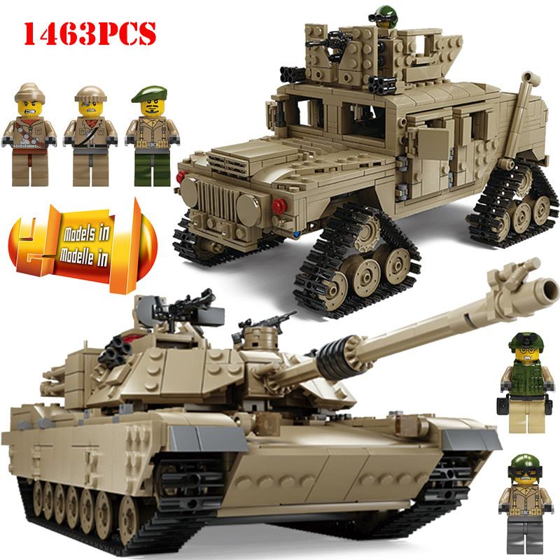 1463pcs World War Military Tank Deformation Armored Vehicle Army Figures Building Blocks Compatible Legoe City Bricks Kid Toys
