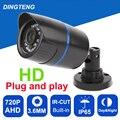 Câmera 720 P 1.0MP AHD Bala À Prova D' Água Visão Noturna Out/Interior IP65 à prova d' água Câmera de Segurança CCTV Cam 3.6mm lente