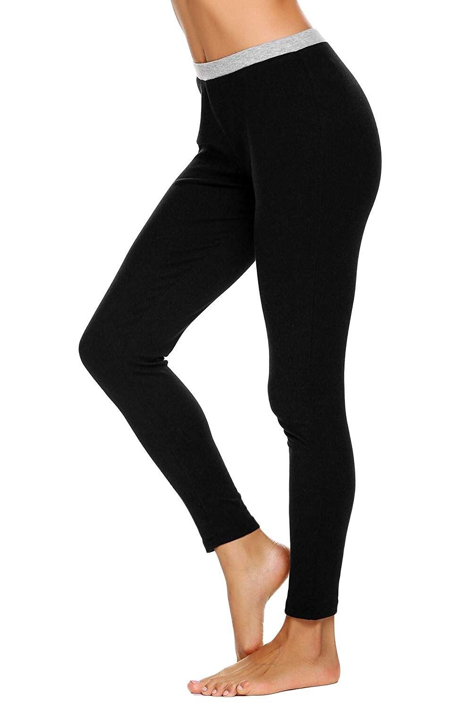 Inferior 15 Las Mujeres Tobillo Capa Parte Seda Falda De Longitud Base Ropa Johns Y Largo Térmica Interior Pantalones Conjuntos Pieza SUFBrU
