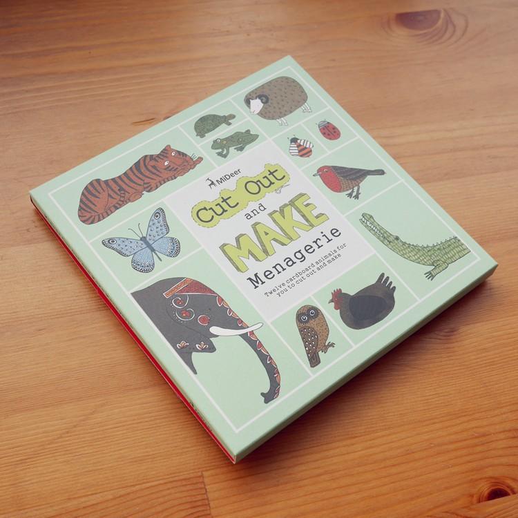 12pcs / pack životinja kartona 3D zagonetke / DIY rezati knjigu / - Igre i zagonetke - Foto 2