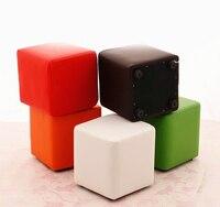 Fashion Colorful Creative Shoes Stool Living Room Office Sitting Stool Soft PU Fabric Sofa Bench Tea