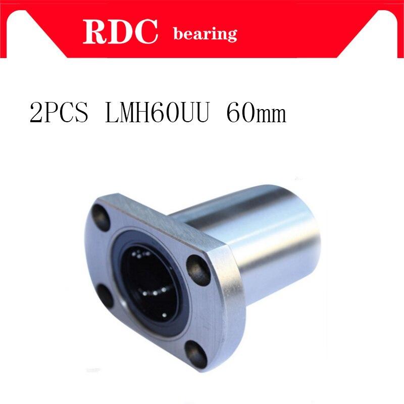 Free shipping,2pcs/lot High quality flange linear ball bearing bushing for linear guide rail rod round shaft cnc part LMH60UU