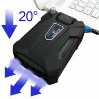 Кулер для ноутбука охлаждающая подставка для ноутбука Мастер с адаптером медный лед Портативный внешний охладитель скорости охлаждения дл...