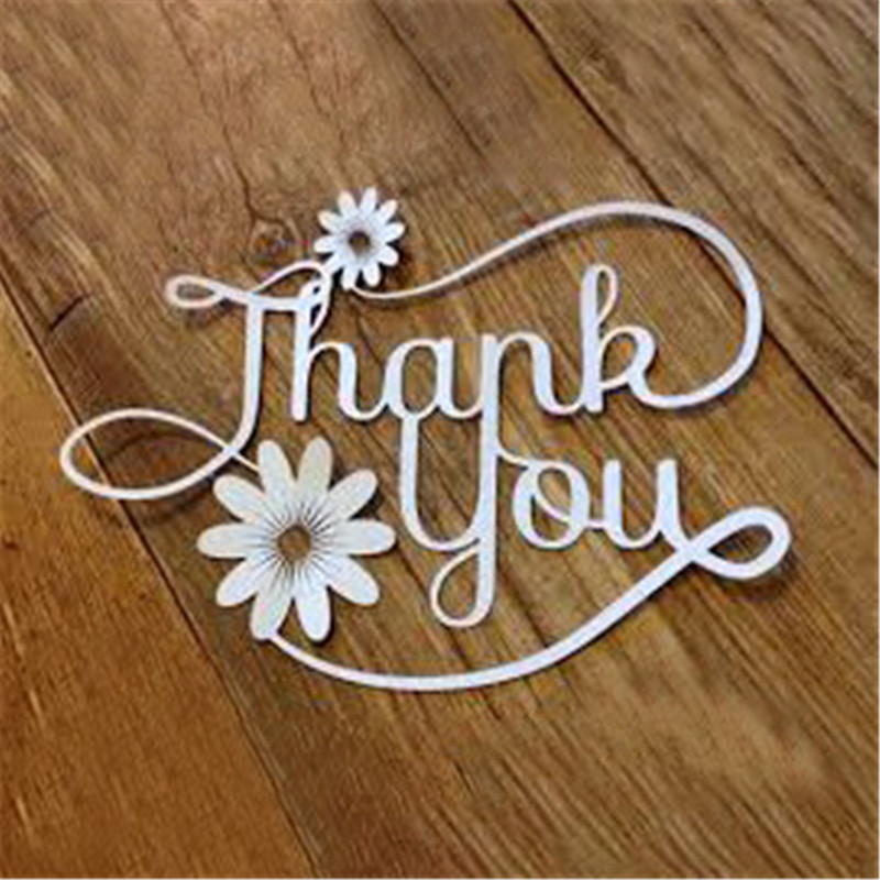 YaMinSanNiO Letter Thank You Flowrer Dies Metal Cutting Dies For Scrapbooking Die Cut Stitch Craft Dies New Die For 2019 Stencil