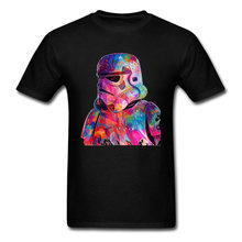 Queen Pure Judo Tees Star War Darth Vader T Shirt Men Infinite War Marvel The Avengers T-Shirts Colored Paint Drawing(China)