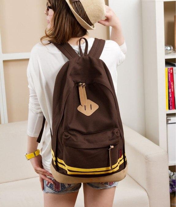 2016 new Quality canvas shoulder bag snout women bag schoolbag backpack fashion lovers hit the color stripe bag travel bag футболка классическая printio винни пух