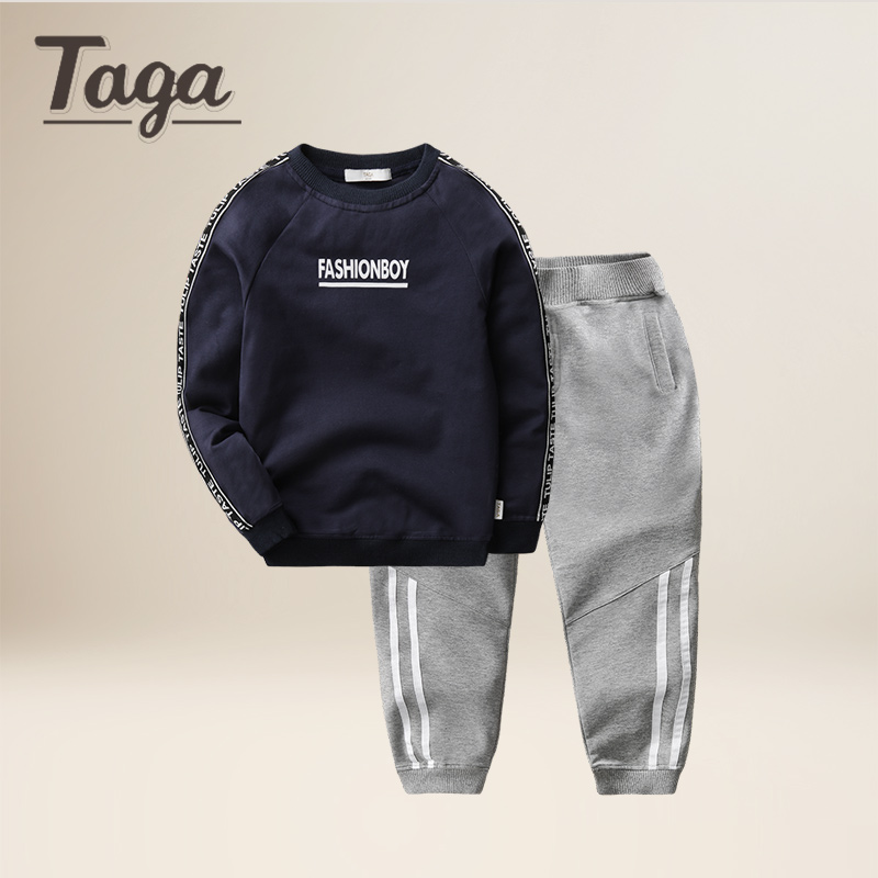 TAGA 2017 new Baby Boys Clothing Sets Baby Spring Autumn Sports Casual Long Sleeve Shirt+Pants Kids 2PCS Kids Tracksuit For Boys