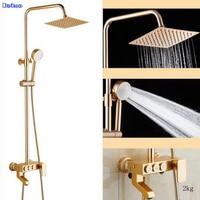 Dofaso Antique Brass Shower Gold Baht Shower Faucet Rose Shower Set Bath Shower Faucets