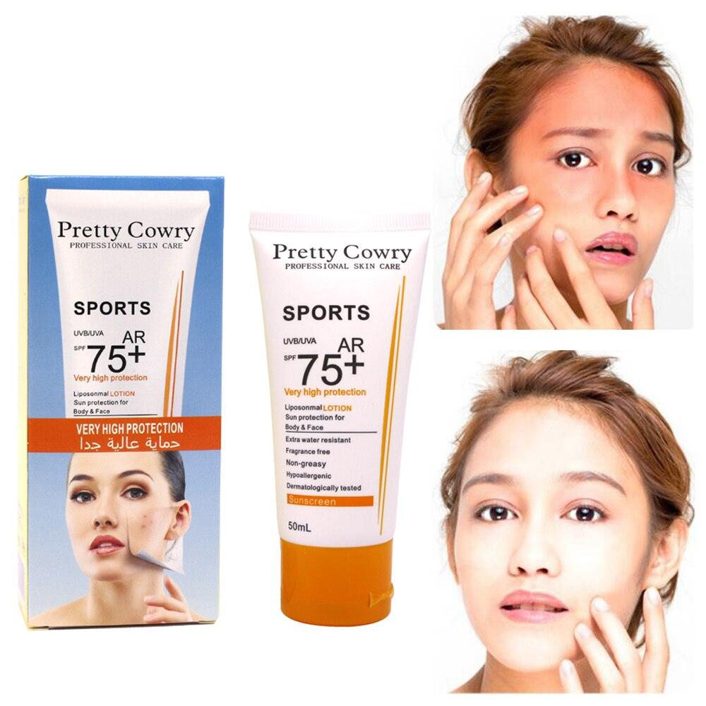 Sports Sunscreen Cream Very Hight Sun Protection For Body&Face Sunblock  Lasting Non-sticky Water Resistart Ultralight SPF 75+
