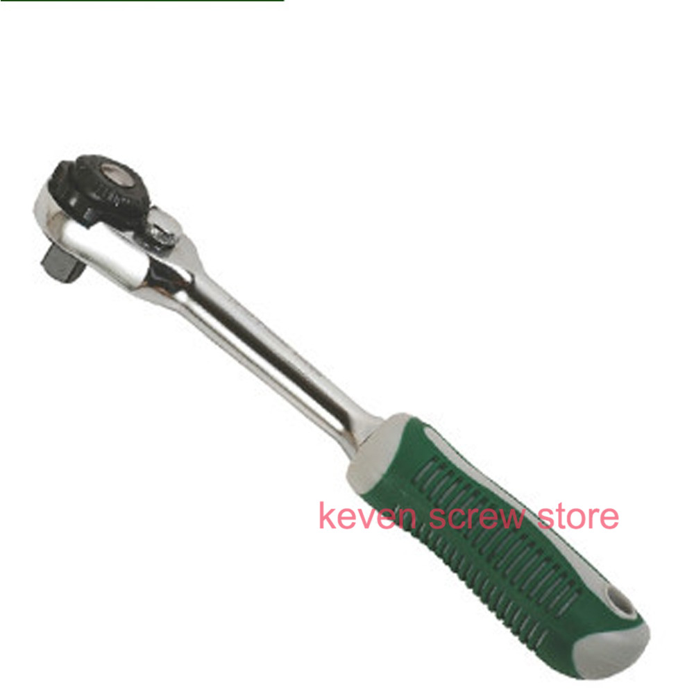 high quality Effective tools hand tools 1/2 medium and small three-way ratchet wrench flying gear wrench DL4102A ratchet handle wrench screwdriver ratchet handle dismountable screw driver non slip aluminium alloy hand tools