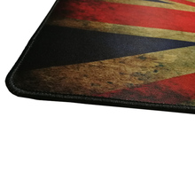 Vintage Large Gaming Mousepad with UK/US/Korea Flag