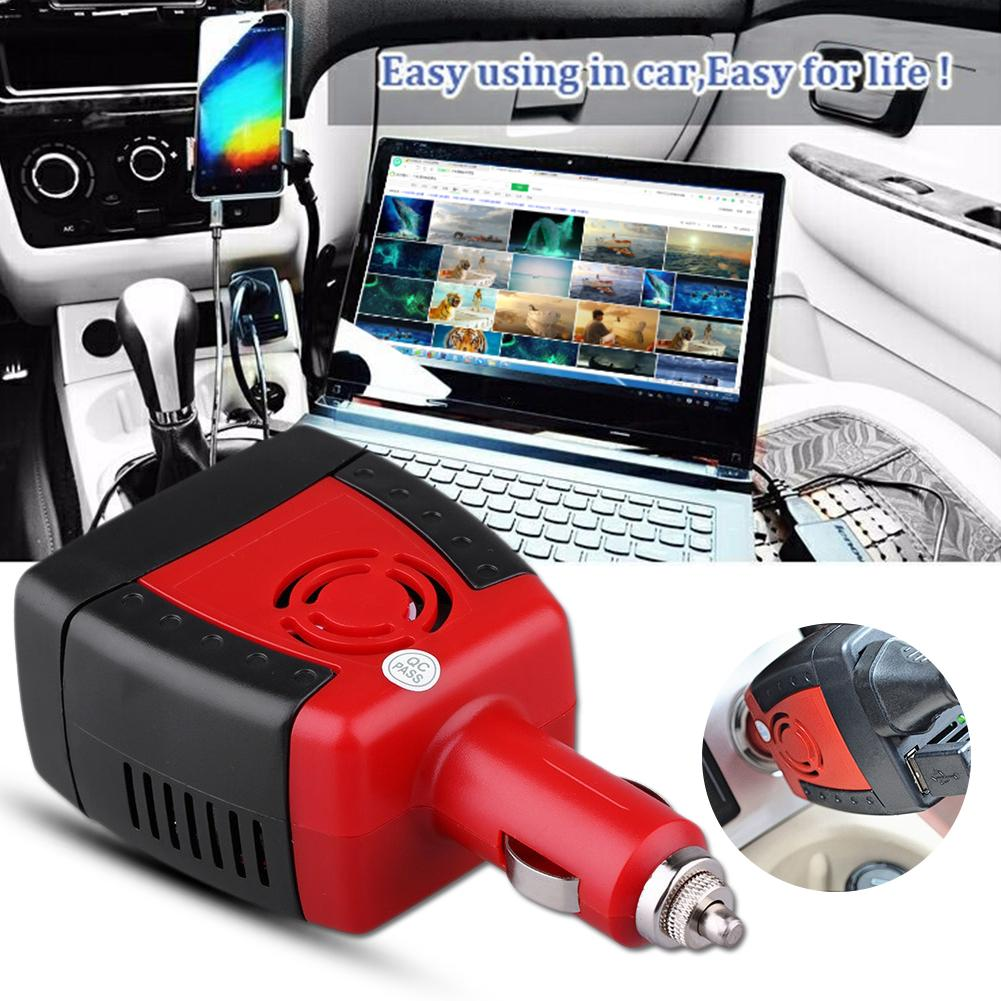 Car Power Inverter USB 2.1A 75W DC 12V To AC 220V 50Hz Converter Adapter Car Charger For Mobile Phone Laptop Notebook