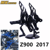 Z 900 Accessoris With Logo CNC Racing Foot Pegs Adjustable Rearset Rear Sets Motorcycle For