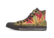Fire lily High Top Canvas Shoes Flat Casual Custom Unisex Sneaker Drop Shipping