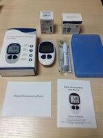2 set/lotto Misuratore di Glucosio Nel Sangue Diabete Strisce Reattive Più Lungo Periodo di Validità Avvolto 50 pz Striscia Lancette per la Famiglia uso