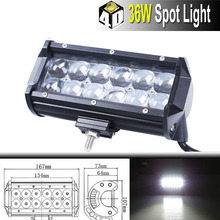 4D Riflettori 36 W Off Road LED Work Light Bar di Guida Barra luminosa Car Driving lavoro Offroad Spot Flood 4WD luce di lavoro 36 W