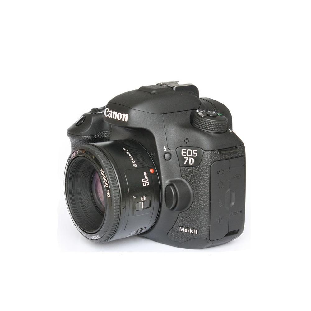 Объектив YONGNUO YN50mm f1.8 YN 50 мм AF объектив YN50 с автофокусом + бленда + УФ-объектив + сумка для цифровых зеркальных камер Canon EOS
