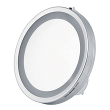 6 Inch 3X Magnification LED Suction Cup Light Cosmetic Mirror Wallmounted Makeup Bathroom