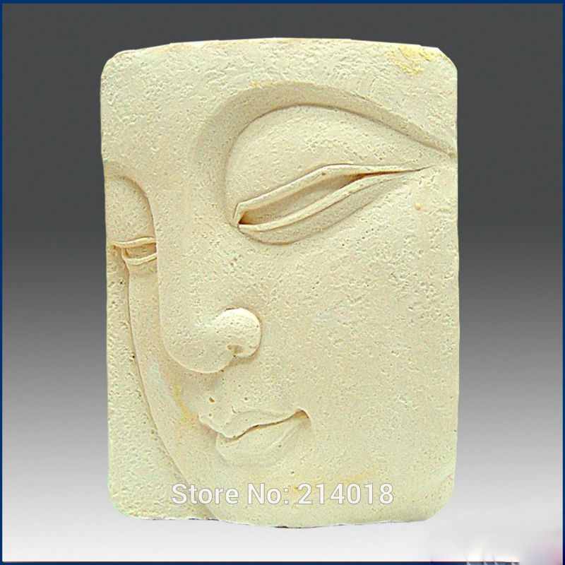 Diy buda close-up olhos cuboid alimentos-grau feito à mão sabão de silicone vela bolo decoração molde