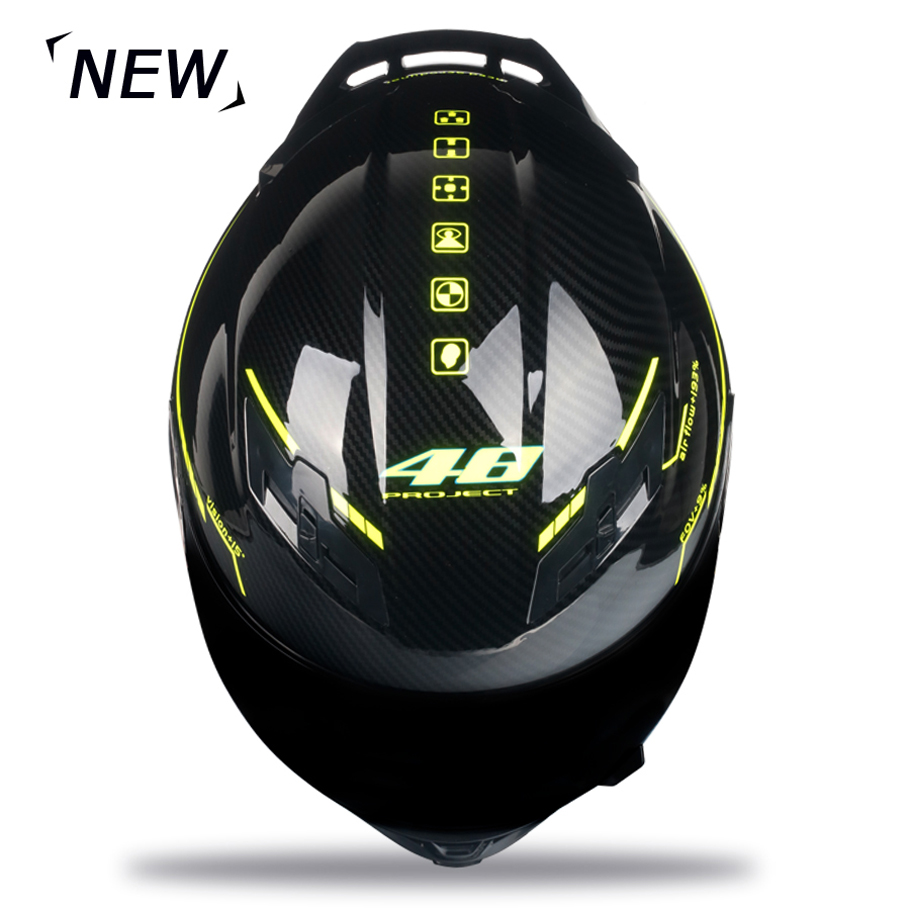 Casque de moto en Fiber de carbone intégral casque de course professionnel Kask DOT arc-en-ciel visière Motocross hors route Touring - 5