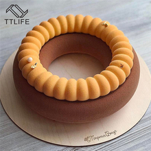 TTLIFE New Arrivals DIY Large Round Donut Cake Mold Food Grade Silicone Biscuit Mold Baking Tools Cookie Mold