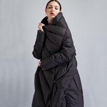 Для женщин свободные черные Пуховики и парки для мужчин Для женщин зима назад Разделение Подпушка плащ Пальто для будущих мам