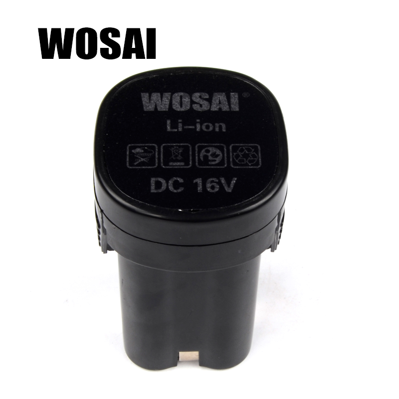 WOSAI 16V Cordless Drill Lithium Battery Replacement Battery Applicable Drill Model WS-3015 wosai 6pcs electric drill