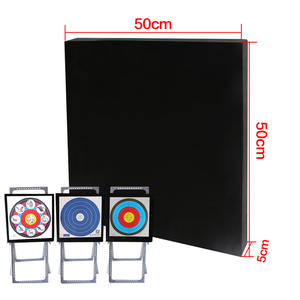 Image 5 - Archery Black EVA Foam Target Self Healing 2 Sided 20x20x2.4 inch Compound Recurve Bow Hunting Arrows Target Paper for Shooting