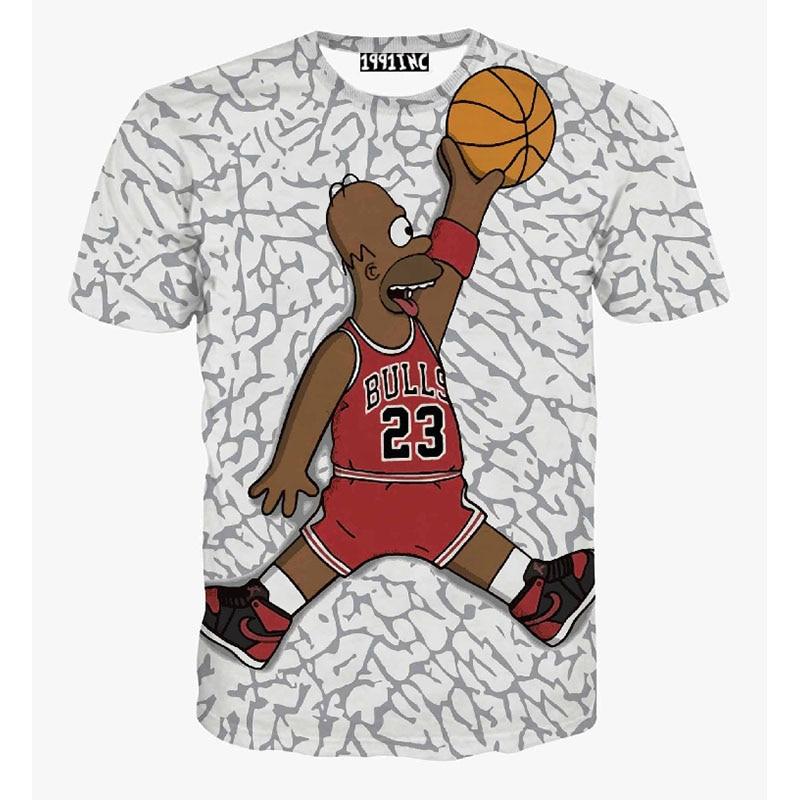 Nepravilne črte Simpson majica poletje nova majica s kratkimi rokavi - Moška oblačila