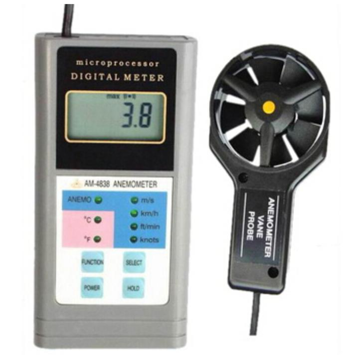 все цены на Digital Anemometer AM-4838 Air Flow Anemometer AM4838 Wind Speed Meter онлайн