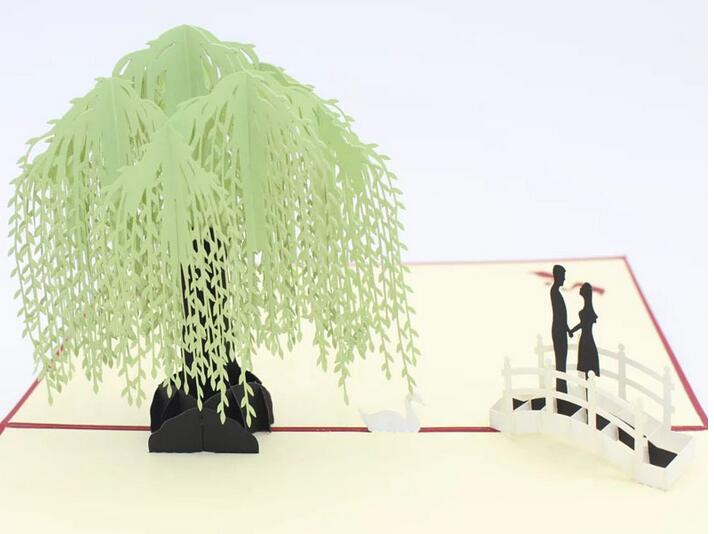3d pop up greeting cards willow tree laser cut handmade postcards 3d pop up greeting cards willow tree laser cut handmade postcards paper carving craft valentines day gifts in cards invitations from home garden on m4hsunfo