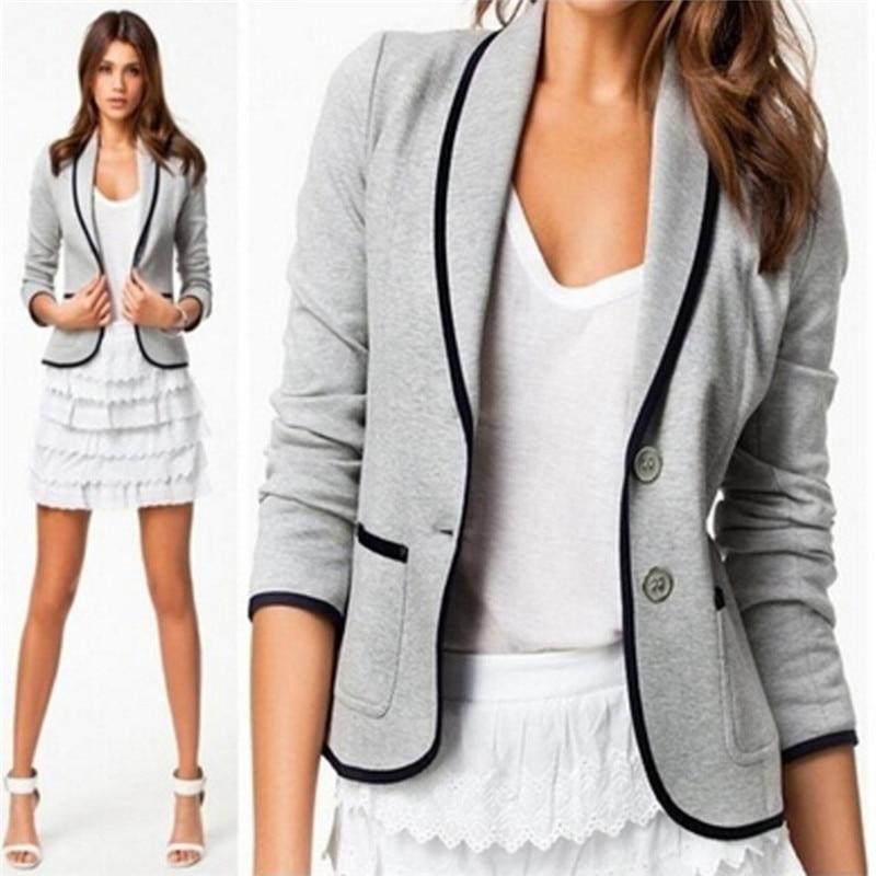 New Fashion Women Blazers Casual Blazer Womens Coat Outwear Female Feminino Blazer Femme Plus Size Veste Femme Autumn