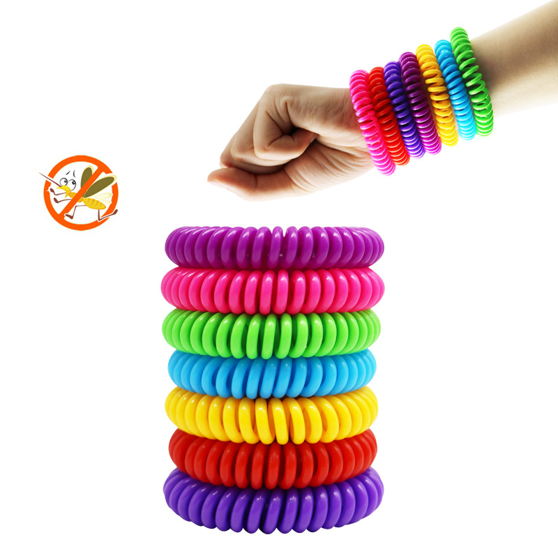 10pcs/set Outdoor Anti Mosquito But Pest Repellent Bracelet 240hours Insect Protection Wristbands For Adults Kids