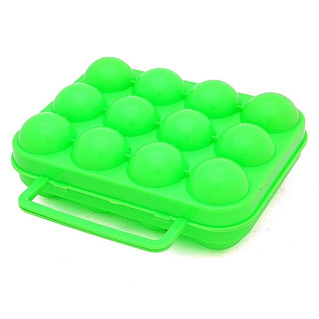 Hot New 6/12pcs Eggs Storage Boxes Plastic Egg Holder Storage Organizer Hamper Portable Egg Container Carrier Case Basket