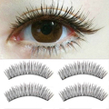2015 10 Pairs Black Soft Man-made Cross  Eye Lashes Makeup Extension False Eyelashes smt 101