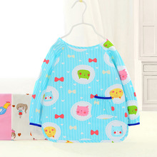 New Anti-wearing Childrens Waterproof Smock Autumn and Winter Baby Long-sleeved Dinner Clothes