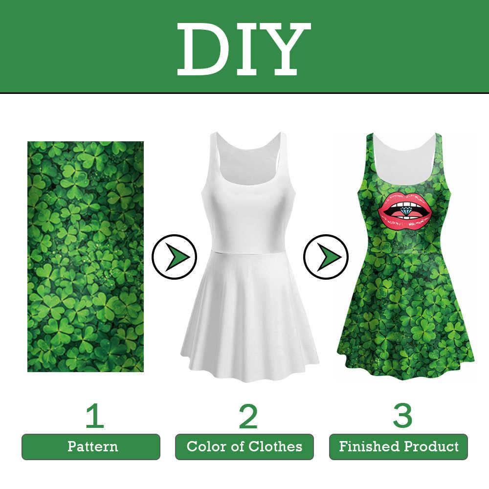 NADANBAO تخصيص فستان صيفي للنساء فستان قصير لتقوم بها بنفسك ثلاثية الأبعاد الطباعة مثير فساتين مرنة