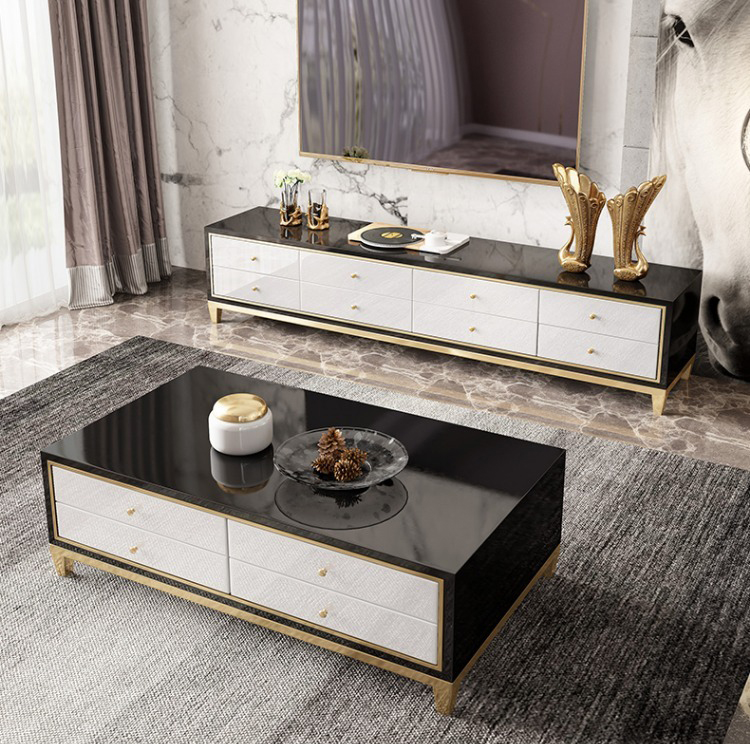 Stainless Steel TV Stand Modern Living Room Coffee Table Home Furniture Tv Led Monitor Stand Mueble Tv Cabinet Mesa Tv Table