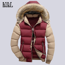 9 Цвет Модная брендовая зимняя Для мужчин пуховик с меховым капюшоном шляпа тонкий Для мужчин пальто Повседневное толстые Для мужчин s пуховики 4XL, UMA347