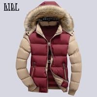 9 Color Fashion Brand Winter Men S Down Jacket With Fur Hood Hat Slim Men Outwear