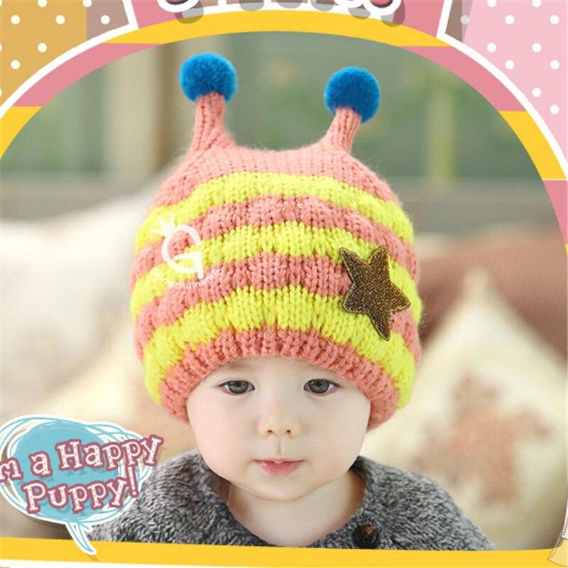 New Hot Baby Handmade Cartoon Bee Pattern Crochet Earflap Hat Beanie Cap Warmer Winter kids new arrival cartoon bee design hat