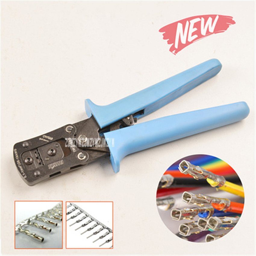 New Portable Crimping Plier Wire Cable End Sleeves Ferrules Cutters Cutting Pliers Multi Hand Tools 0.1-1mm2 190mm Hot Selling pneumatic crimping tools plier with 15 sets of dies