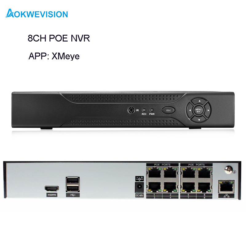 New arrival XMeye Onvif H.264 8ch 1080P ONVIF POE NVR network video recorder for IP camera with HDMI output gadinan h 265 h 264 8ch 4mp 4ch 5mp 16ch 960p cctv security nvr recoder p2p for ip camera xmeye max 4k output support hdmi onvif