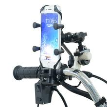 แบบพกพา 360 องศา Rotatable อลูมิเนียมจักรยานจักรยาน E bike รถจักรยานยนต์โทรศัพท์มือถือสนับสนุนผู้ถือสำหรับ iphone 7 8 X XS XR