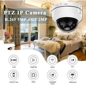 Image 3 - BESDER 5MP PTZ 4X Zoom optyczny prędkość kamera IP kopułkowa 3MP 1080P Full HD ONVIF P2P 40m noktowizor metalowa wodoodporna kamera PTZ IP